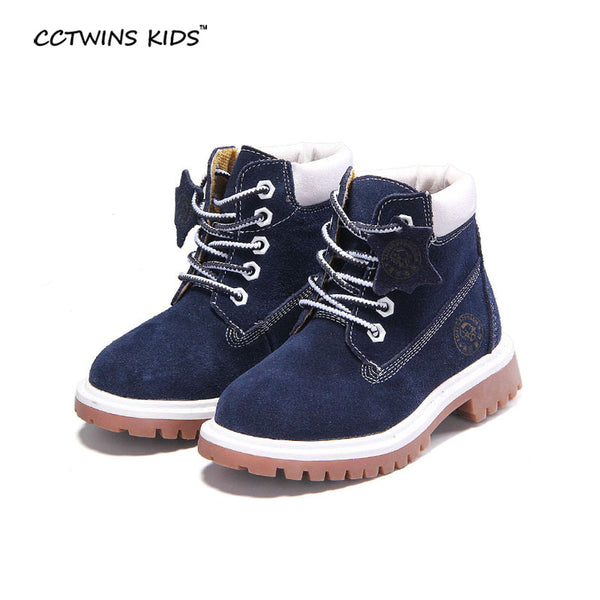 CCTWINS KIDS autumn winter fashion martin boots for children genuine leather shoe baby girl red boot boys blue ankle boot C619