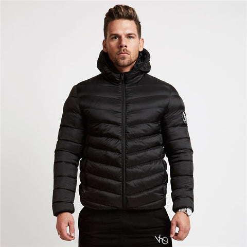 YEMEKE Brand Winter Coat Men Casual Hoodied Patchwork Cotton comfortable Men Clothing Winter Jacket Men