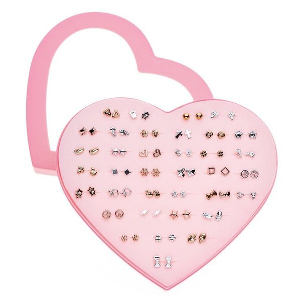 36 Pairs/Set Mixed Style Anti Allergic Cute Stud Earrings Set