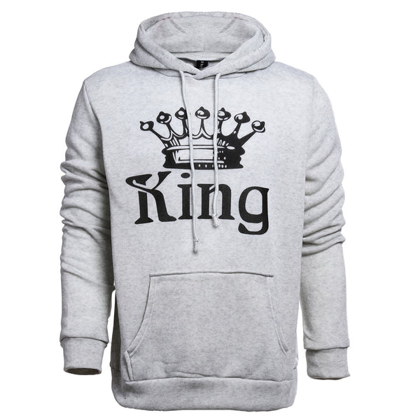 2017 New Women Men Hoodies King Queen Printed Sweatshirt Lovers Couples Hoodie Hooded Sweatshirt Casual Pullovers Tracksuits - EconomicShopping