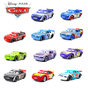 Disney Cars Toys Pixar Cars 2 3 Lightning McQueen Racing Car Jackson Cruz Ramirez 1:55 Diecast Car Toy Model Boy Kid Gift