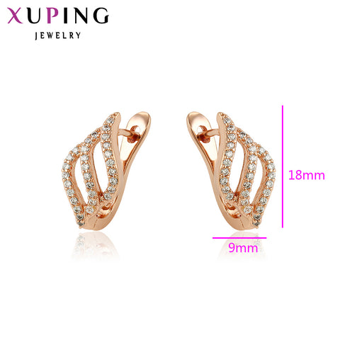 11.11 Xuping Fashion Earrings High Quality European Style Charm Design Rose Gold Color Plated Jewelry Christmas Gift S17-90045