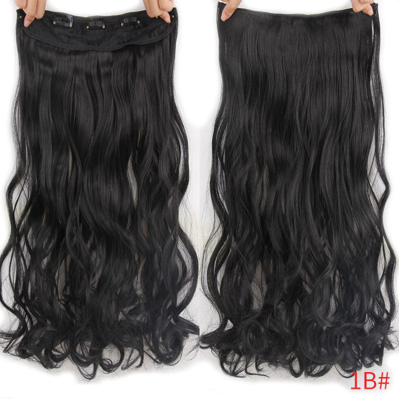 "22"" 17 Colors Long Wavy High Temperature Fiber Synthetic Clip in Hair Extensions for Women"