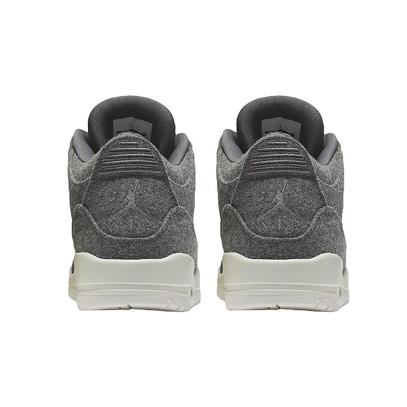 finest selection a9a46 e4fda ... Original Authentic Nike Air Jordan 3 Retro Wool Dark Grey Dark Gray Wool  Men s Basketball Shoes ...