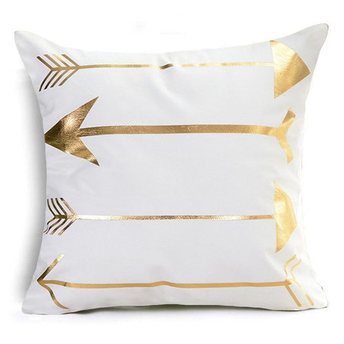 King and Queen Bronzing Cushion Cover Pillow Cover - EconomicShopping