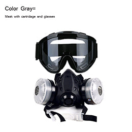 New Half Face Gas Mask With Anti-fog Glasses - EconomicShopping