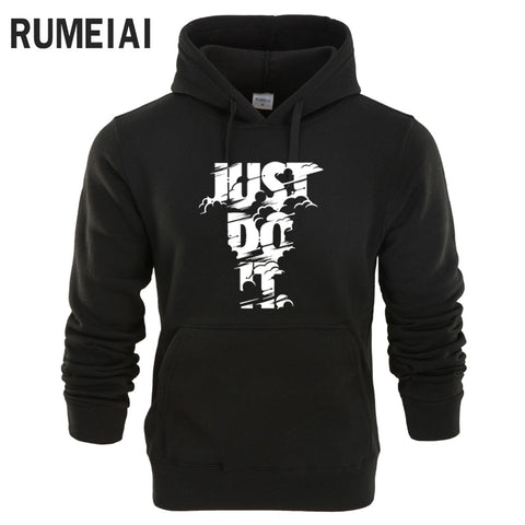 Long Sleeve Hoodie Lightning JUST DO IT - EconomicShopping