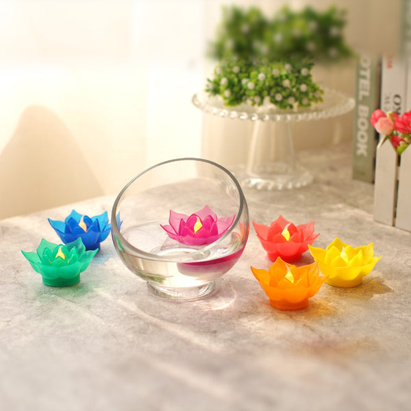 GiveU Lotus Led Candles Flameless lotus Candle with Timer For Votive Home Decoration bedroom candles colorful candles