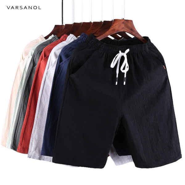 Varsanol Casual Shorts Men Clothes 2018 Summer Casual Men's Shorts Homme Cotton Bermuda Short Trousers Brand Clothing Puls Size - EconomicShopping