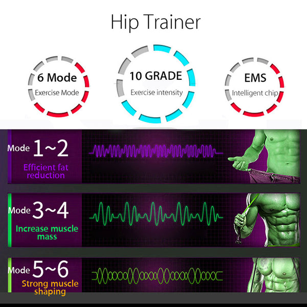 EMS Hip Trainer Muscle Stimulator - EconomicShopping