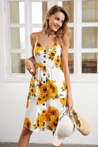 Strap V-neck Summer Dress
