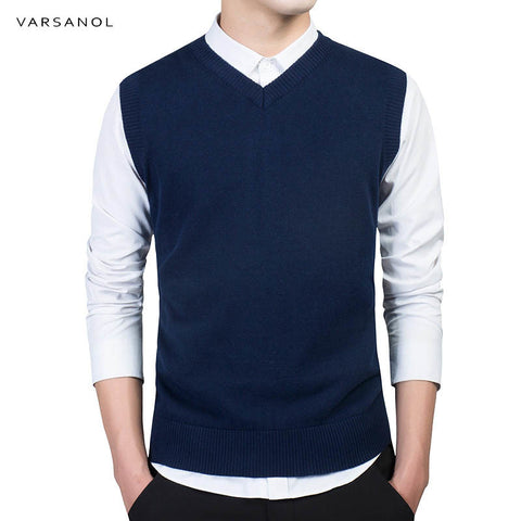 Sweater V Neck Slim Vest - EconomicShopping