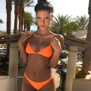 Orange Sexy Bikini Set - EconomicShopping