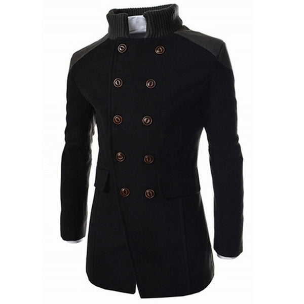 Jacket Warm Winter Trench Long Outwear Button Smart Overcoat - EconomicShopping