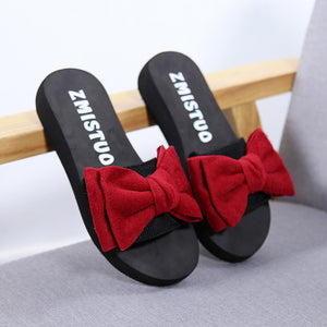 Women Bow Summer Sandals Slipper Indoor Outdoor Shoes - EconomicShopping