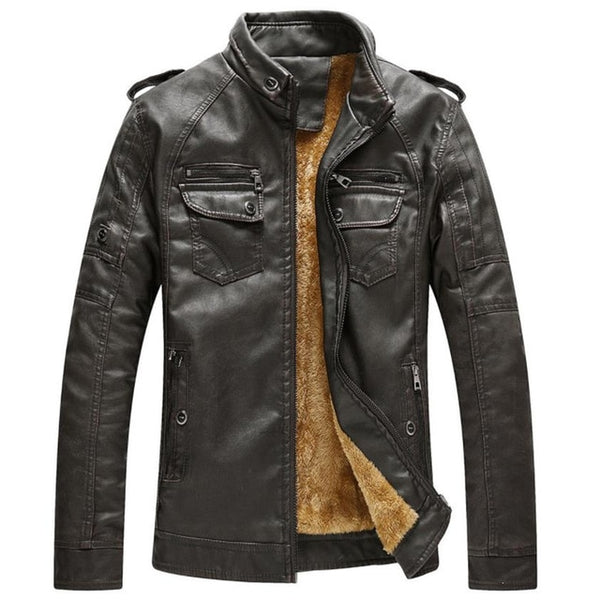 Hot Quality Autumn and Winter Leather Jacket - EconomicShopping