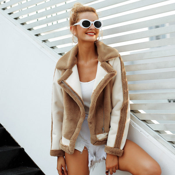 Elegant Faux Fur Coat - EconomicShopping