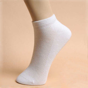 5 Pairs Mens Womens Unisex Sport Low Cut Crew Cotton Ankle Sport Casual Socks - EconomicShopping