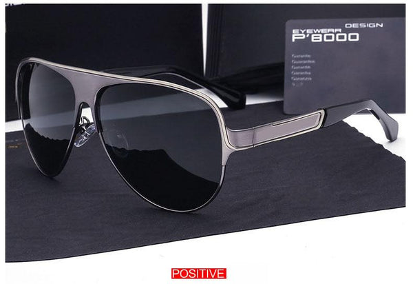 Brand Designer Aluminum Magnesium Polarized Sunglasses Men Driving Sun Glasses Goggles Eyewear for Male oculos 8580 with cases and box - EconomicShopping