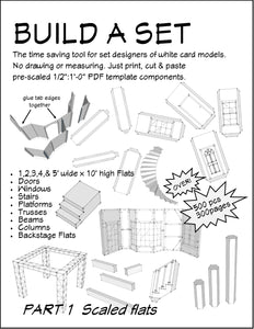 Build a Set Part 1 Scaled Flats, Patterns and People