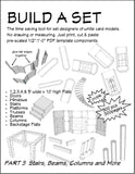 Special Bundle Build a Set Part 3 Stairs, Beams, Columns, Platforms & More