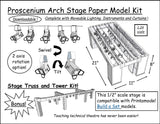 Proscenium Arch Stage Paper Model