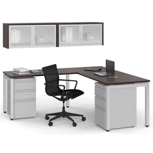"72"" X  78"" Unite Leg Workstation with Overhead Storage"