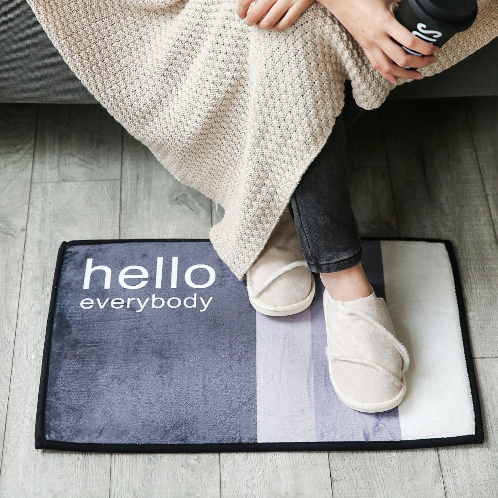 Flannel Skidproof Bath Mat Rug - inno+ home-innoplus kitchen