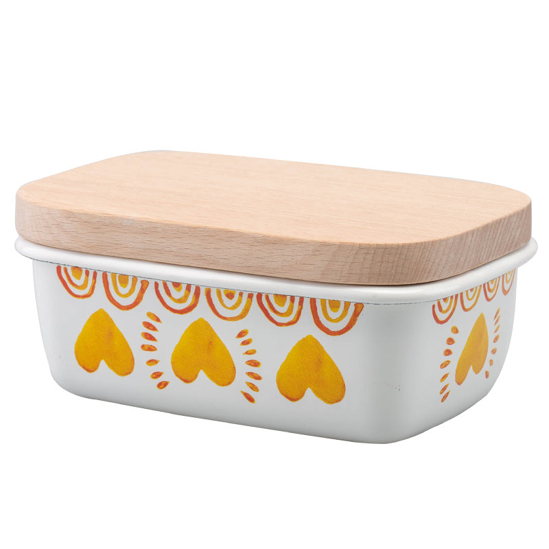 Japanese Enamel Storage Container For Food Butter Dish - inno+ home-innoplus kitchen