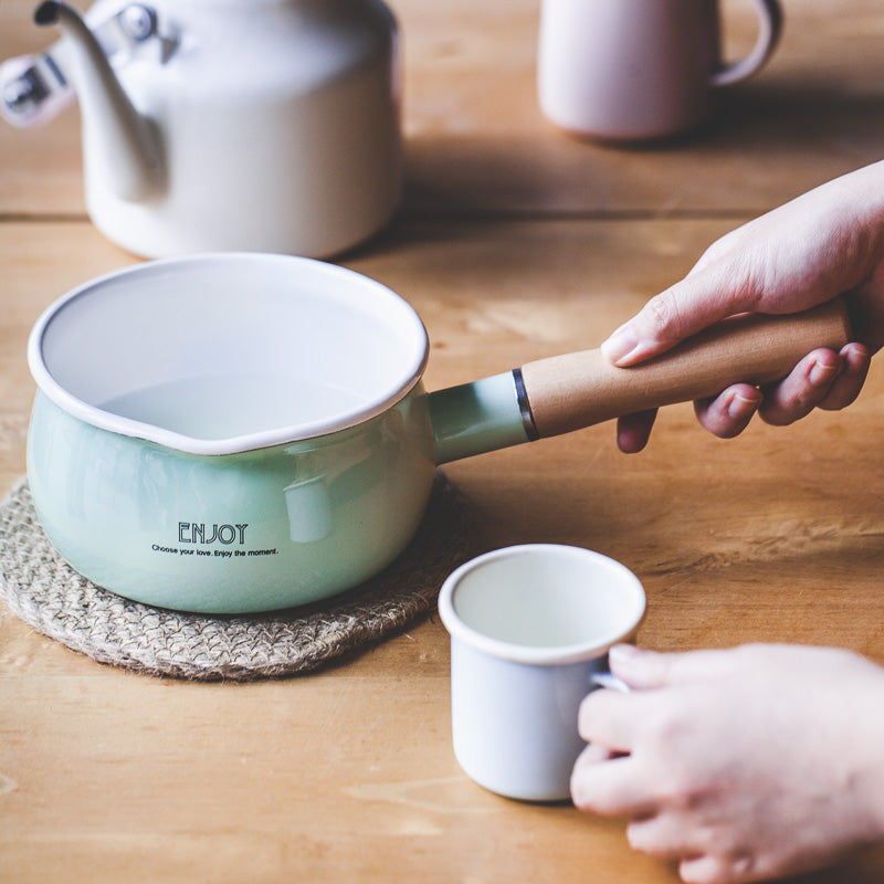 Enamel Milk Pan Duck Egg Blue - inno+ home-innoplus kitchen