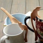Japanese Style Wood Desset Spoons Coffee Stirrers - inno+ home-innoplus kitchen