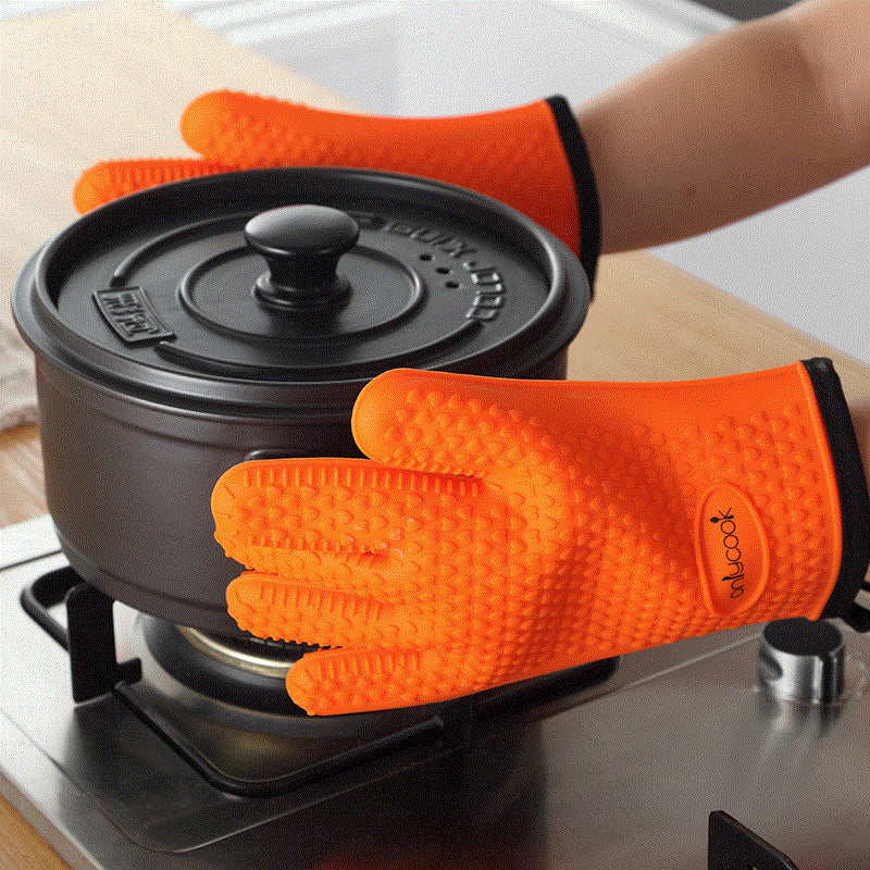 Silicone Oven Mitts Heat Resistant Non-Slip Gloves - inno+ home-innoplus kitchen