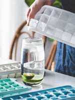 Silicone Ice Grid Molds with Spill-Resistant Removable Lid - inno+ home-innoplus kitchen