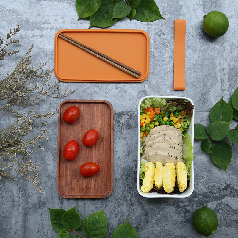 Traditional Natural Wood Lunch Bento Boxes - inno+ home-innoplus kitchen