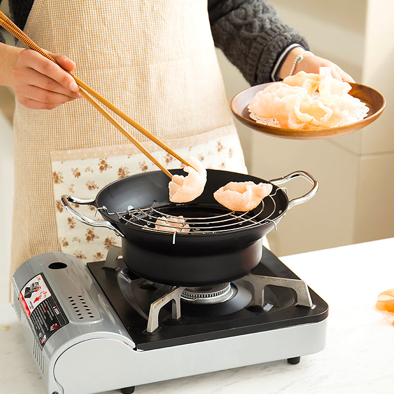 Japanese Tempura Fry Pan with Drainer - inno+ home-innoplus kitchen