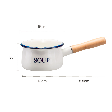 Enamel Milk Pan 15cm Three Colors available - inno+ home-innoplus kitchen