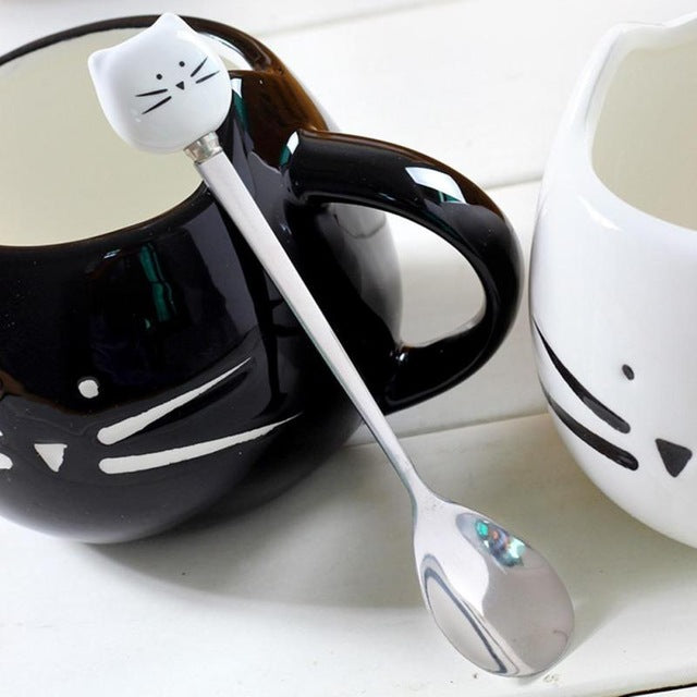 cat, cat spoon, stainless steel spoon, kitchen spoon, cute spoon,inno+,innoplus