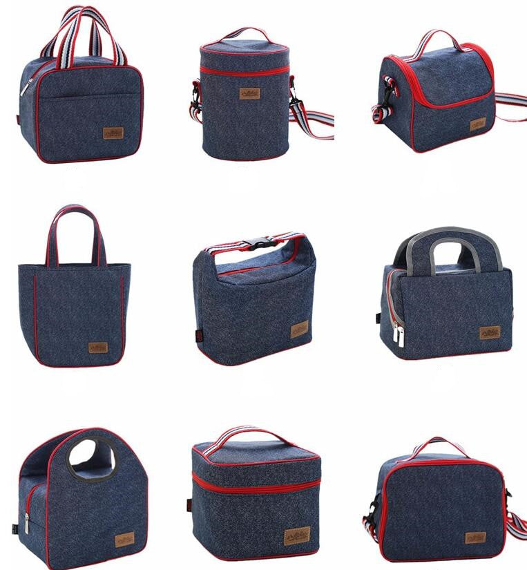 lunch bag, denim bag, oxford bag, school lunch,lunch box,innoplus denim lunch bag,brand new,for working professionals and students