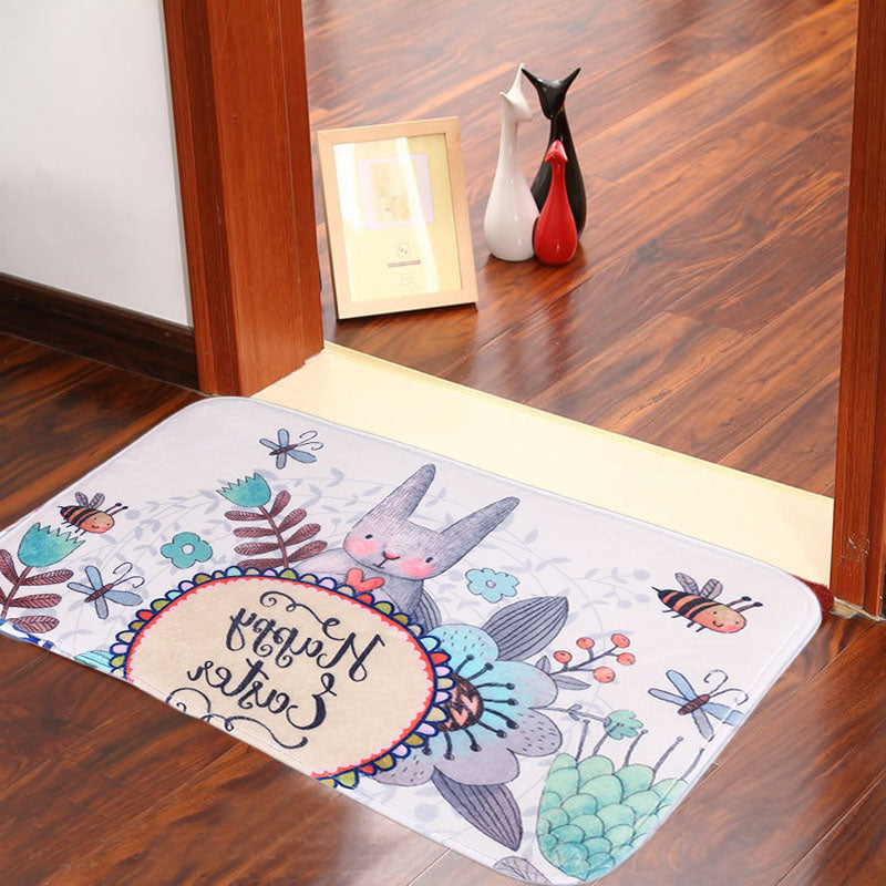 innoplus, inno+,Easter bunny mat,easter bunny rabbit indoor mat,rabbit mat
