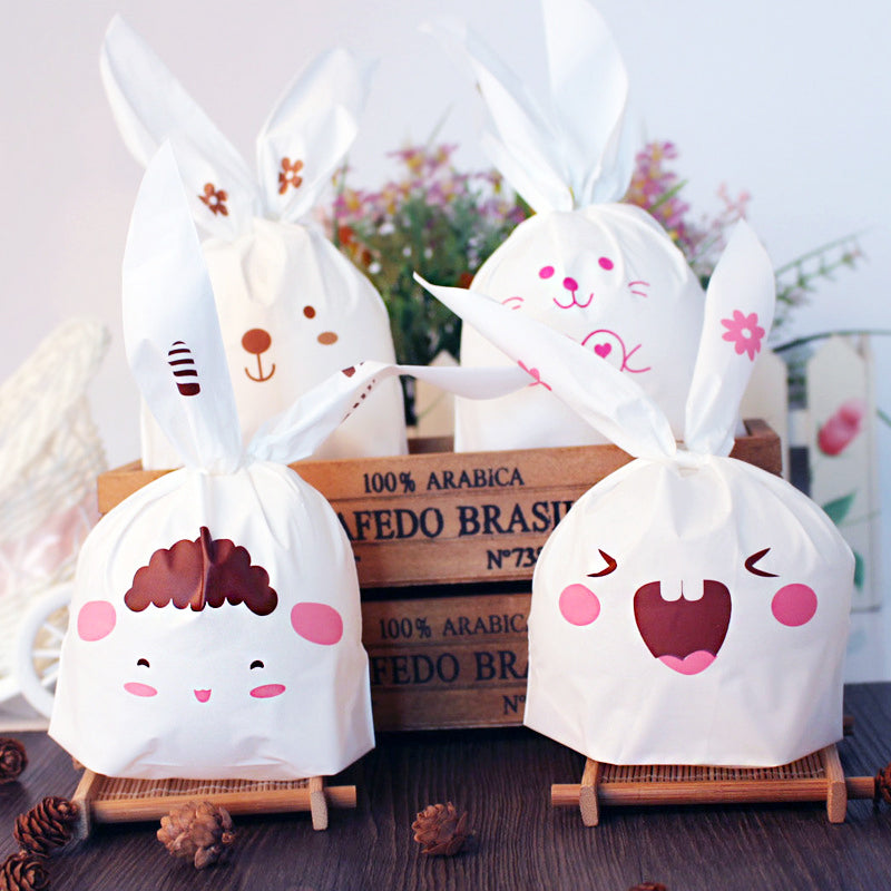 Easter Bunny Rabbit Cookie bags,plastics bags,cute bunny bags