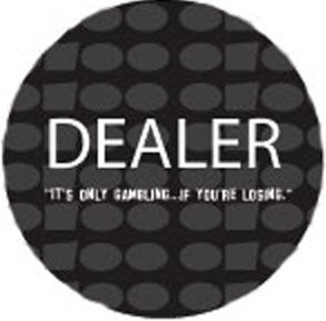 Dealer Button - Basic Black