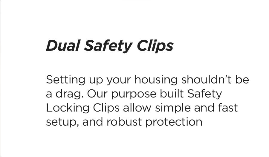 edge water housing clips