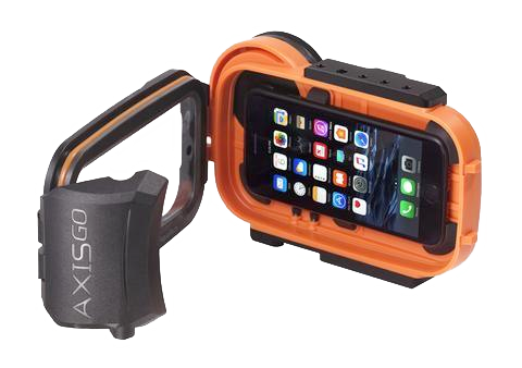 AxisGO 7+ Water Housing for iPhone 7 Plus / iPhone 8 Plus Sunset Orange - Construction