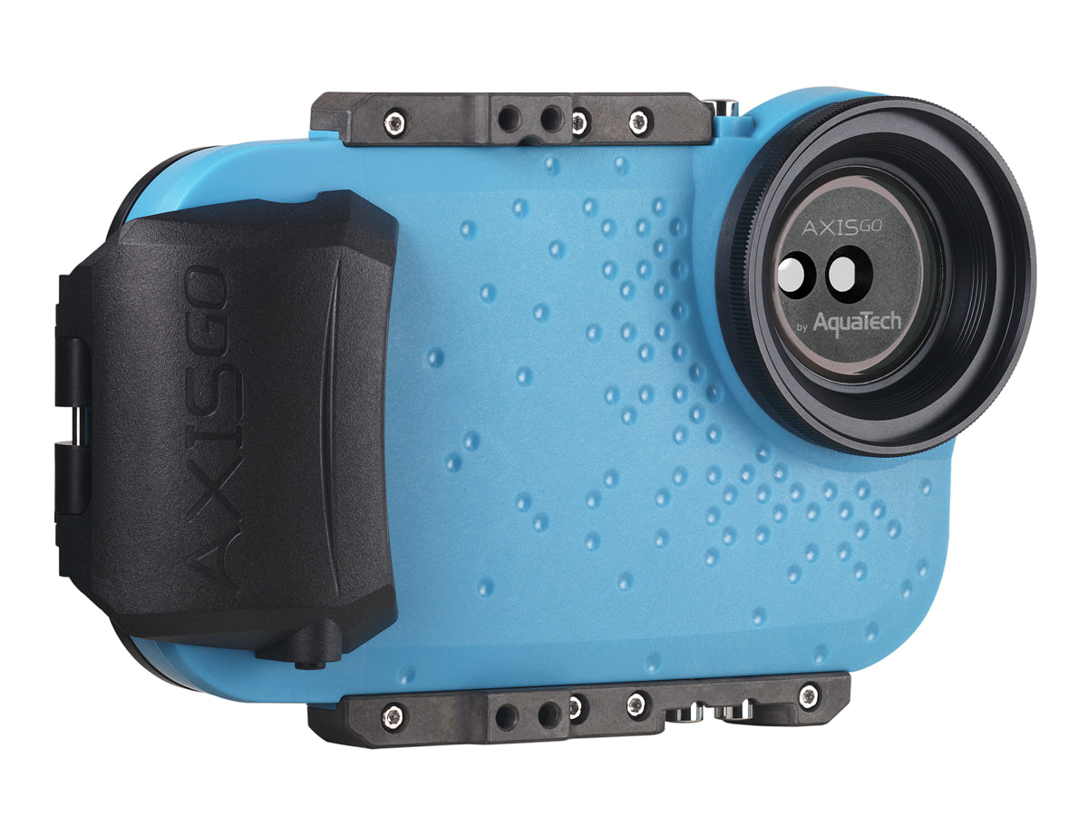 AxisGO XS MAX / XR Water Housing for iPhone  XS MAX/XR Electric Blue
