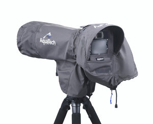 SSRC XLARGE - Camera Rain Cover protecting a camera on a tripod