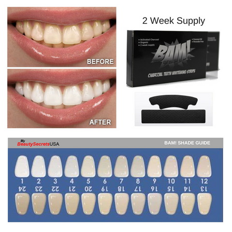 BAM! Charcoal Teeth Whitening Strips