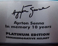 Ayrton Senna Platinum edition / 10 years commemorative helmet