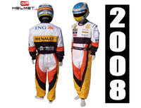 Fernando Alonso 2008 Racing Suit Replica / Renault F1