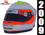 "Rubens Barrichello 2009 ""MASSA TRIBUTE"" Replica Helmet / Brawn F1"