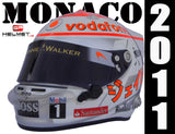 Jenson Button 2011 MONACO GP Replica Helmet / Mc Laren F1